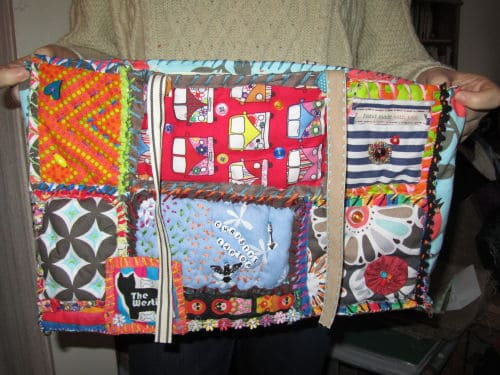 quilt as you go x 2, locker hooking 022