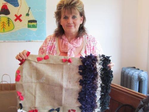 Rag rugging, Angie Lewin inspired emb., QAYG Ossett 004