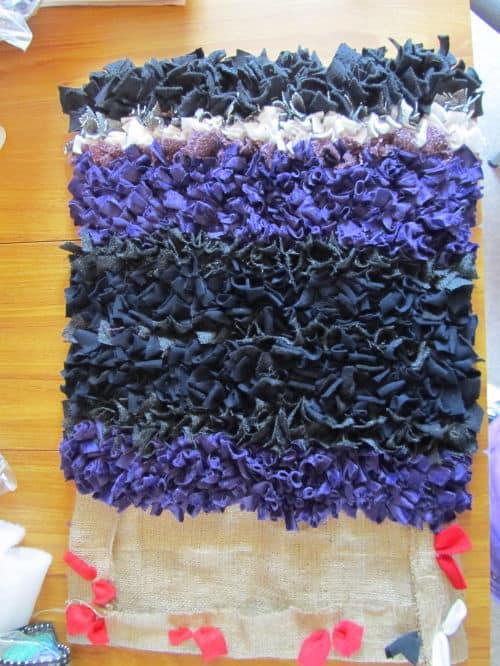 Rag rugging, Angie Lewin inspired emb., QAYG Ossett 013