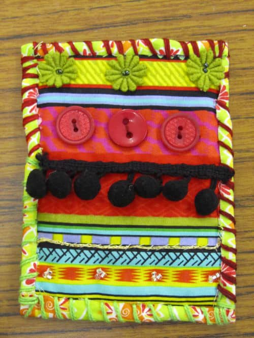 Rag rugging, Angie Lewin inspired emb., QAYG Ossett 025