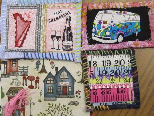Rag rugging, Angie Lewin inspired emb., QAYG Ossett 031
