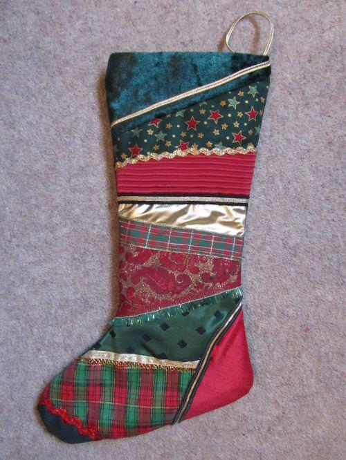 Zendoodlestitch,Janet's Xmas stocking & hearts,Crazy Xmas dec's, 016