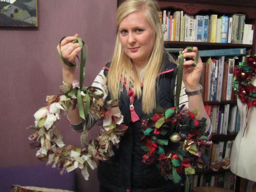 Zendoodlestitch,Janet's Xmas stocking & hearts,Crazy Xmas dec's, 035