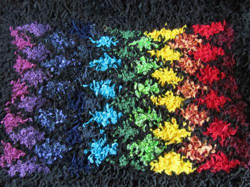 crazy p'wk, rag rugs, Hockney exhib'n 026