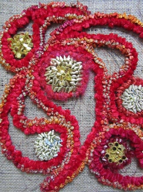 crazy p'wk, rag rugs, Hockney exhib'n 029