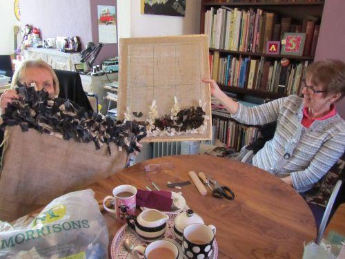 cushions,Orange Box,Mothers Day meal,Stumpwork sheep,Sue's lambs 084