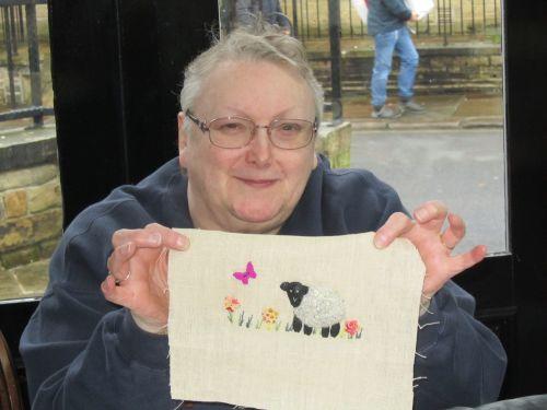 cushions,Orange Box,Mothers Day meal,Stumpwork sheep,Sue's lambs 105