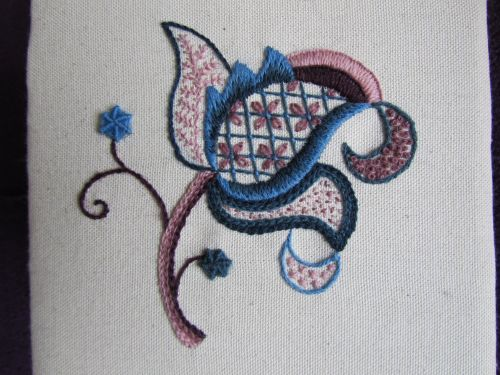 Jacobean crewelwork,OB,printing at Fabba 001