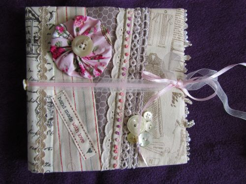 vintage style notebook covers,hessian bags with suff puffs or RR 001