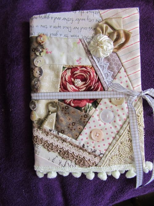 vintage style notebook covers,hessian bags with suff puffs or RR 003