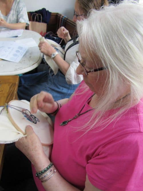 Dragonfly emb,crewelwork,out with Mark 013