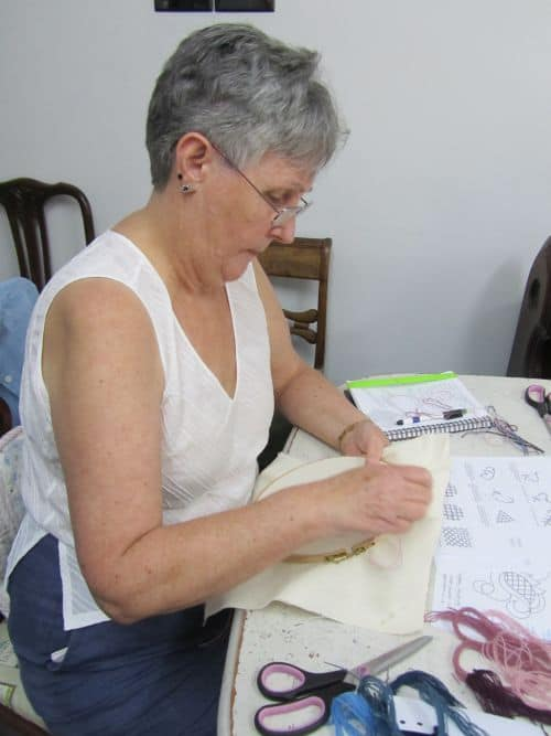 Dragonfly emb,crewelwork,out with Mark 015