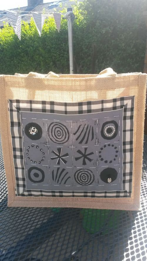 Nicola's print and stitch bag