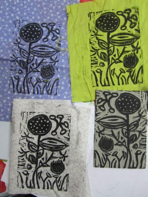 Ogham trees,print at Fabba,Mark and ferrets 057
