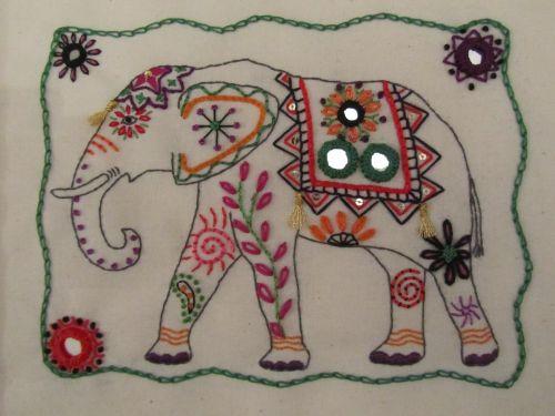 felt dogs and Indian elephant 005